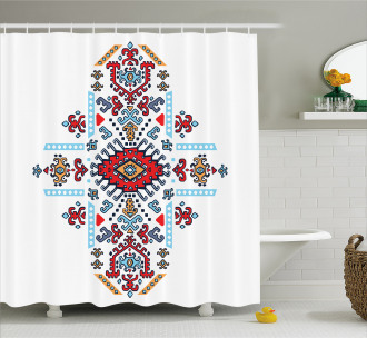 Mexican African Pattern Shower Curtain