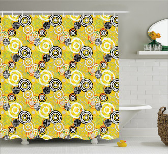 Psychedelic Rings Shower Curtain