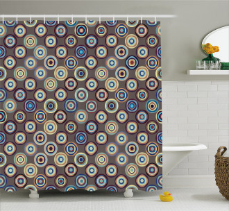 Abstract Big Dots Shower Curtain