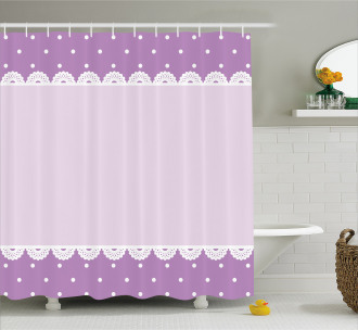 Old Lace Patterns Polka Shower Curtain