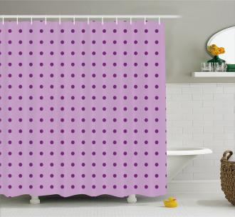 Fashion Polka Dots Shower Curtain