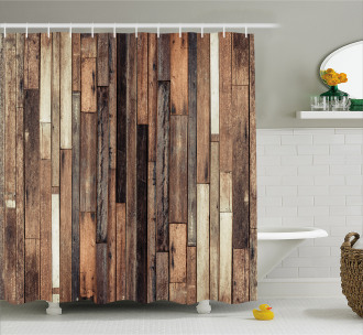 Old Floor Rustic Style Shower Curtain