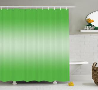 Digital Spring Grass Art Shower Curtain