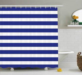 Navy Nautical Marine Shower Curtain