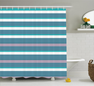 Turquoise Teal Pattern Shower Curtain