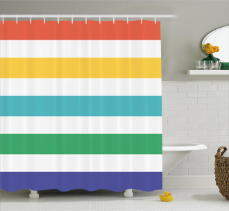 Rainbow Kids Pattern Shower Curtain
