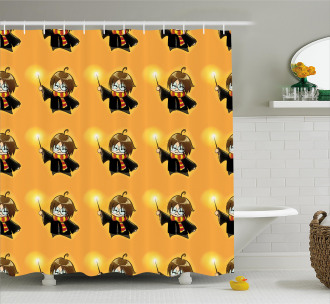 Cartoon Costume and Wand Shower Curtain