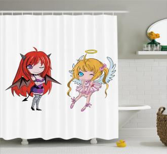 Japanese Fairytale Art Shower Curtain