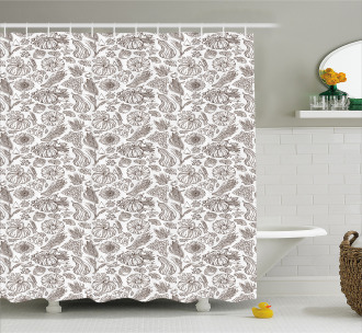 Farmhouse Food Shower Curtain