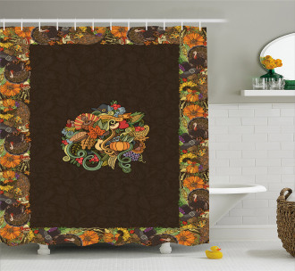 Fall Festivities Shower Curtain