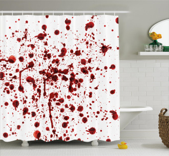 Splashes of Blood Scary Shower Curtain