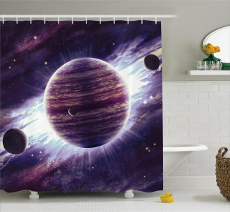 Outer Space Planets Mars Shower Curtain