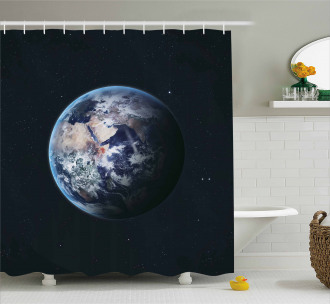 Planet Outer Space Scene Shower Curtain