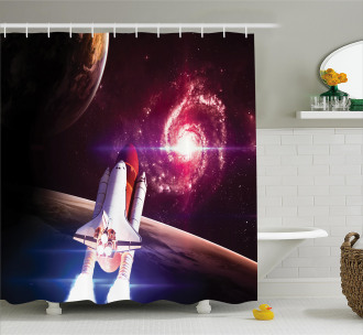 Milky Way Galactic Theme Shower Curtain
