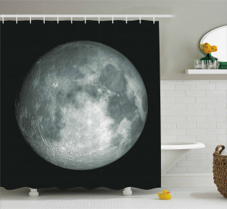 Trippy Moon Planet Space Shower Curtain
