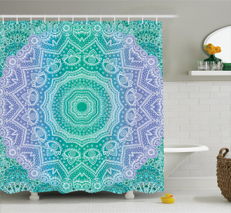Mandala Geometric Figure Shower Curtain