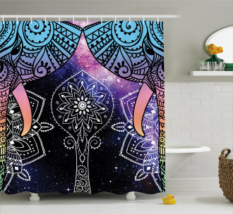 Space Galaxy with Milky Way Shower Curtain