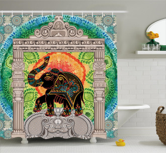 Ancient Pantheon Tower Shower Curtain