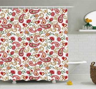 Style Rose Motif Shower Curtain