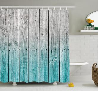 Digital Wood Panels Shower Curtain