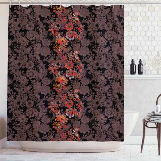 Japanese Vivid Florals Shower Curtain