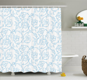 Bohemian Vintage Orchids Shower Curtain