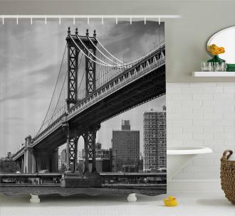 Bridge in New York City Shower Curtain