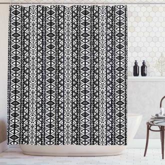 Ethnic Boho Aztec Style Shower Curtain