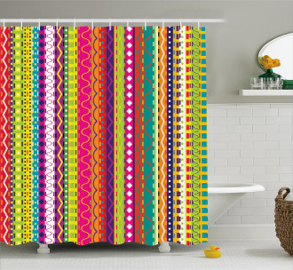 Ethnic Vintage Forms Shower Curtain