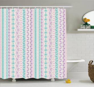 Geometric Ancient Art Shower Curtain
