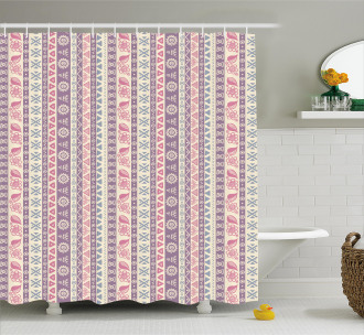 Ancient Floral Leaves Shower Curtain