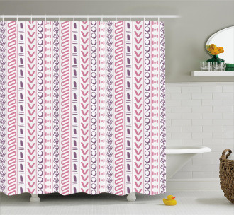 Ancient Flowers Circles Shower Curtain