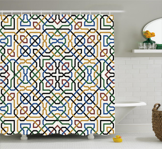 Arabic Marrakesh Motif Shower Curtain