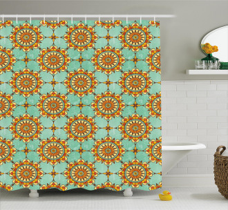 Eastern Victorian Form Shower Curtain