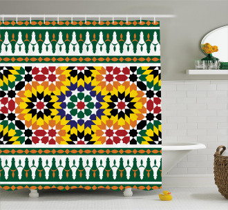 Vibrant African Pattern Shower Curtain