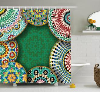 Oriental Hippie Motif Shower Curtain