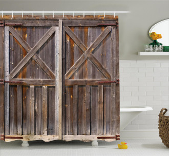 Old Wooden Warehouse Shower Curtain
