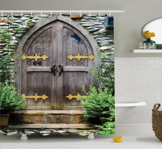 Old Castle Entrance Shower Curtain