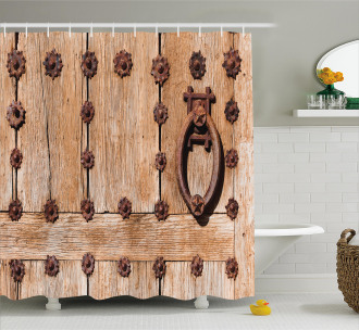Rusty Spanish Entrance Shower Curtain