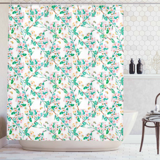 Japanese Spring Blossoms Shower Curtain