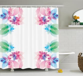Digital Bridal Flowers Shower Curtain