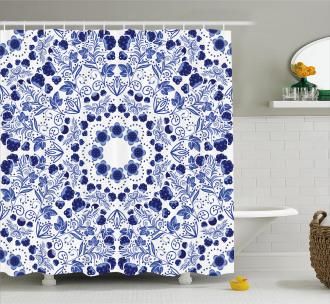 Ethnic Oriental Boho Shower Curtain