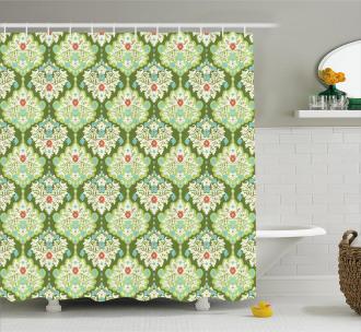 Baroque Floral Figure Shower Curtain