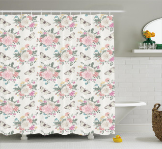 Sweet Roses Bouquet Shower Curtain