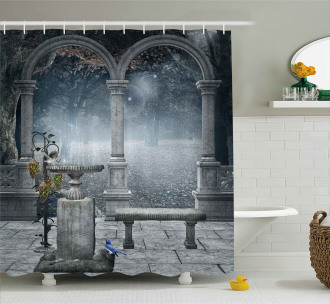Fictional Mythic Stones Shower Curtain