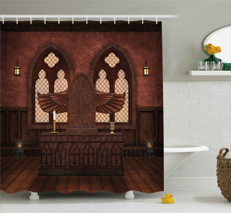 Temple Rituals Tradition Shower Curtain