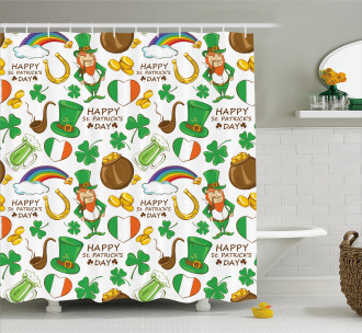 Irish Party Shower Curtain