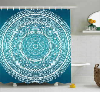 Starry Artsy Flowers Shower Curtain