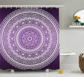 Mandala Floral Boho Shower Curtain