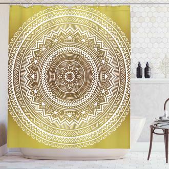 Ombre Mandala Flower Shower Curtain